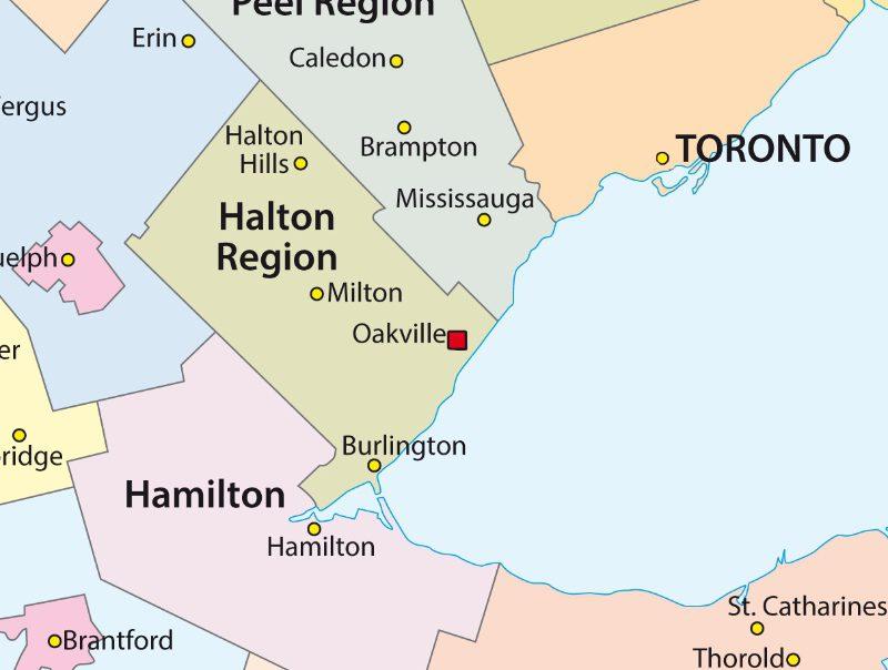 Oakville Map